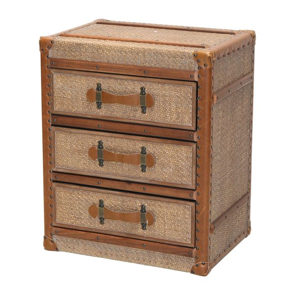 Bamboo Side Table 3 Draws