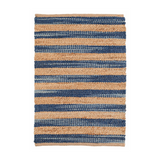 Corfu Blue Natural Jute Rug