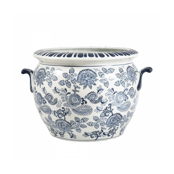 Paisley Planter with Handle