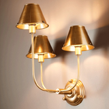 Trilogy 3 Arms Wall Lamp with Shade in Brass