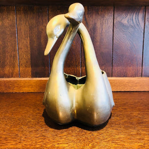 Brass Duck Duo Planter