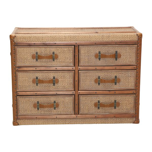 Bamboo 6 Draw Chest