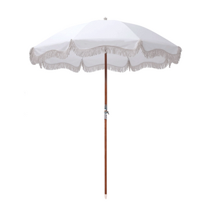 Antique White Premium Beach Umbrella