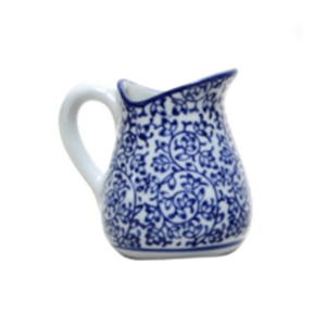 Jug Blue and White #1