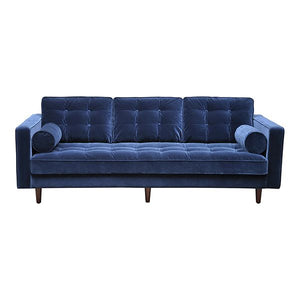 Evie 3 Seat Sofa in Navy Velour