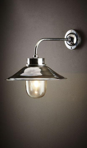 Sandhurst Wall Lamp in Antique Silver