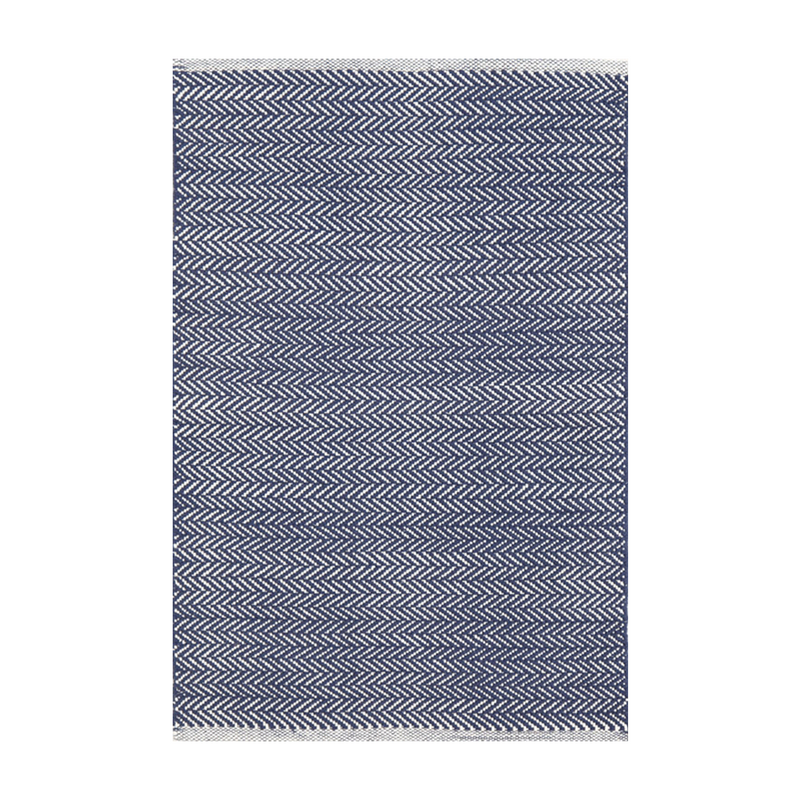 Herringbone Indigo Indoor/Outdoor Cotton Rug