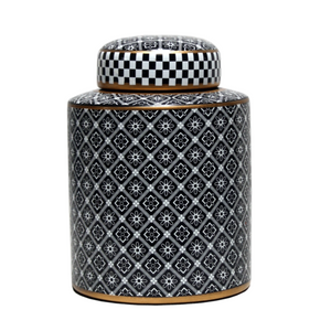 Canister Crosshatch Black