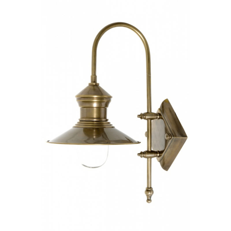 St James Wall Lamp in Antique Brass