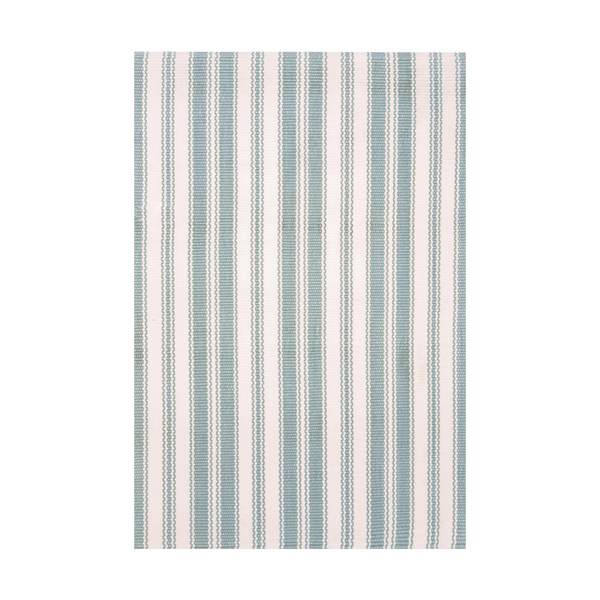 Lighthouse Light Blue/White Indoor/Outdoor Rug