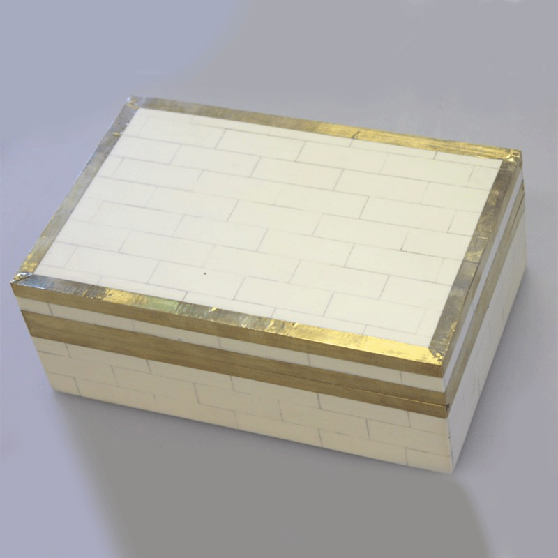 Cream Tiled Decor Box