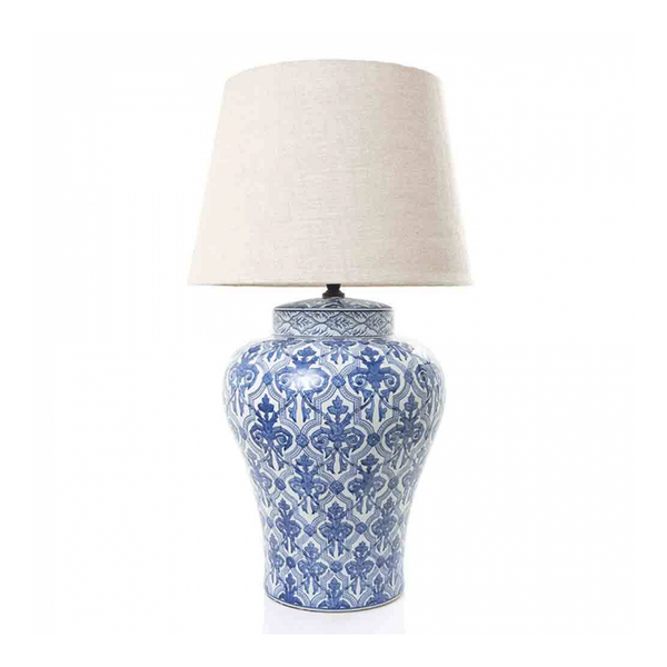 Churchill Table Lamp Base Blue and White