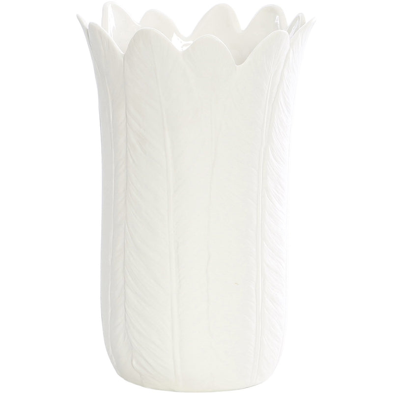 Lint Porcelain Bisque Feather Vase