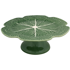 Cabbage Ware Footed Cake Stand