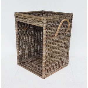 Wood Basket Sidetable