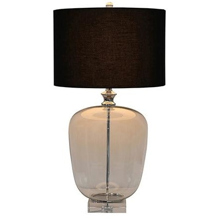 Crystal Base Lamp With Black Shade
