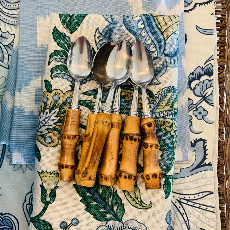 Set of 6 Bamboo Teaspoons