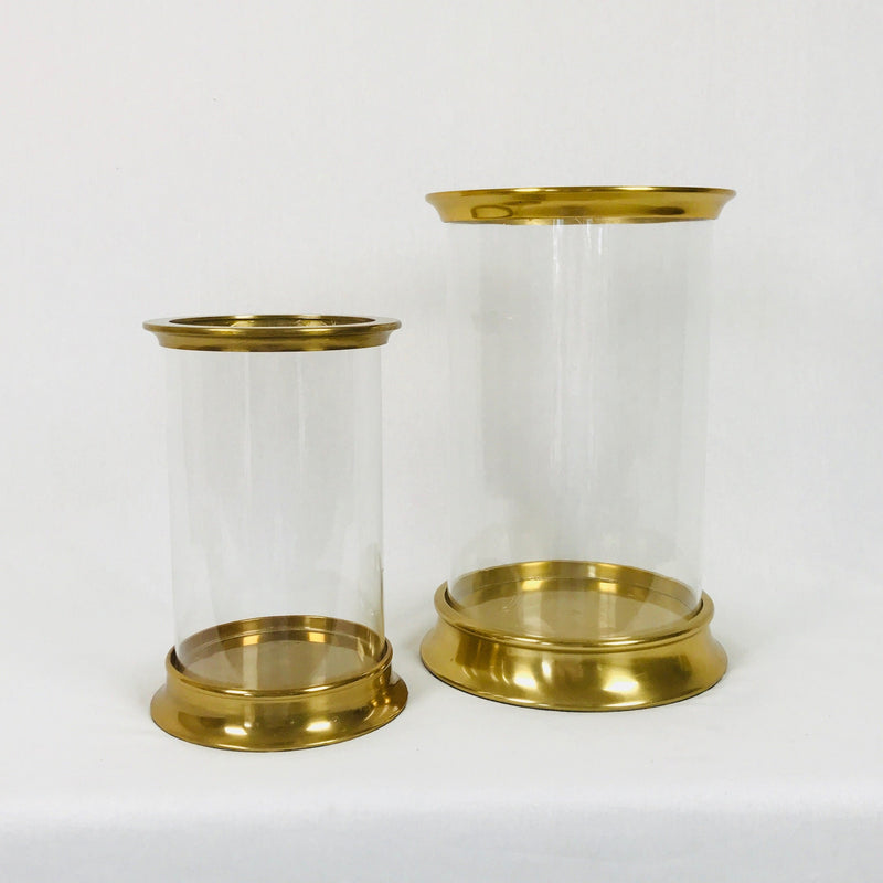 Large Gold Hurricane with Glass insert