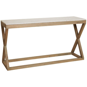 Maine Marble Top Console Table