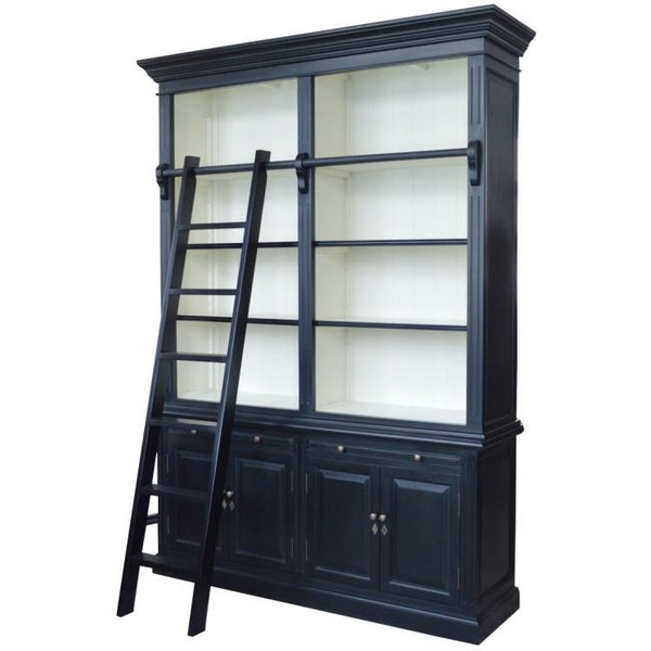 French Library Two-Bay Bookcase