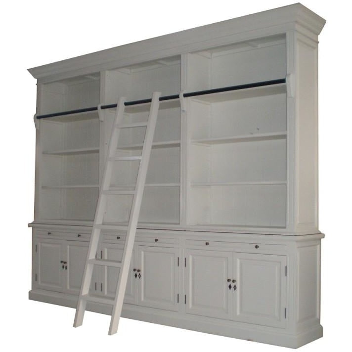 French Library Three-Bay Bookcase