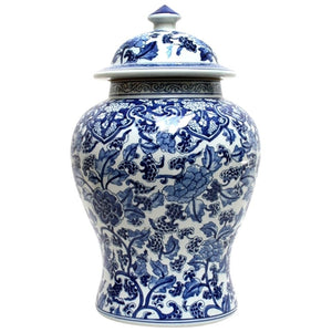 Blue and White Ginger Jar Paisley