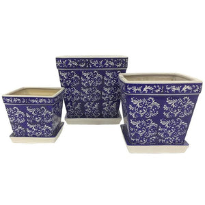 Paisley Square Planter Pot