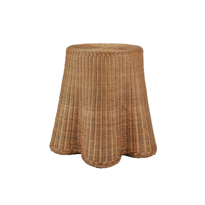 Round Skirted Cane Table