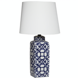 Geometric Blue Lamp