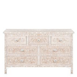 MOP Inlay 7-Drawer Chest - Floral Pale Pink