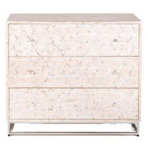 Fez Mother of Pearl Inlay Chest of Drawers Pale Pink