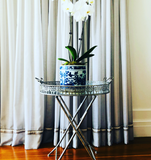 Silver Collapsible Tray Table
