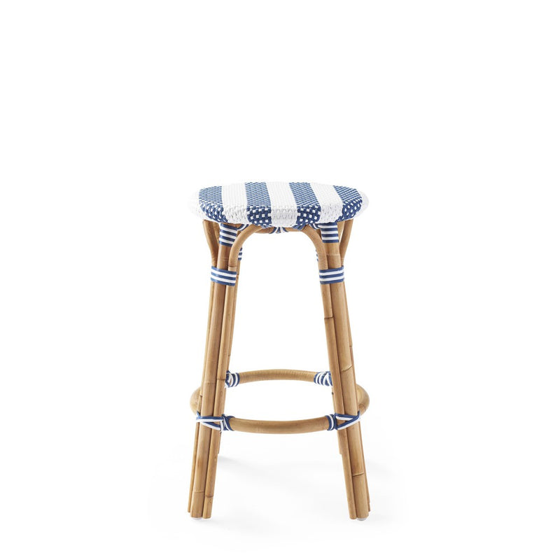 Willow Striped Backless Counter Stool
