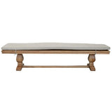 FRENCH OAK BENCH LINEN CUSHION