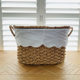 Water Hyacinth Basket with Scallop Liner