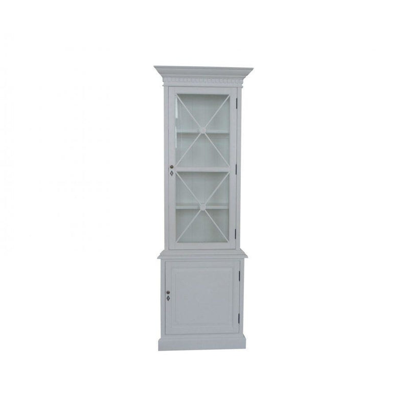 FRENCH SINGLE DOOR CABINET WHITE