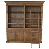 French Library Double-Bay Bookcase