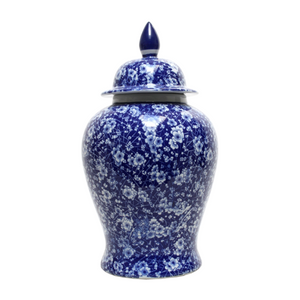 Temple Jar Blue and White Blossom