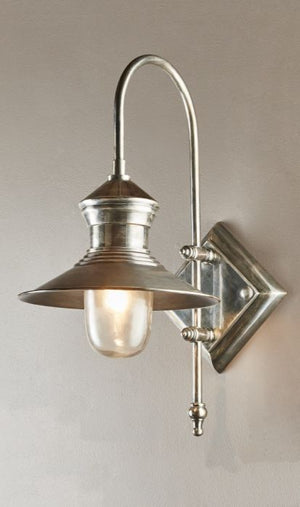 Z St James Wall Lamp in Antique Silver