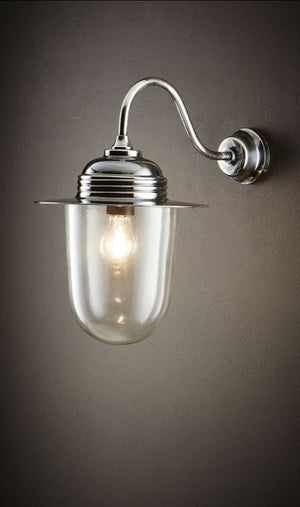 Stanmore Wall Lamp Antique Silver