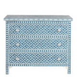 Bone Inlay 3-Drawer Chest - Wallpaper