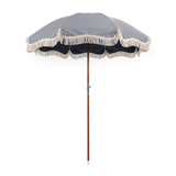 Laurens Navy Stripe Premium Beach Umbrella