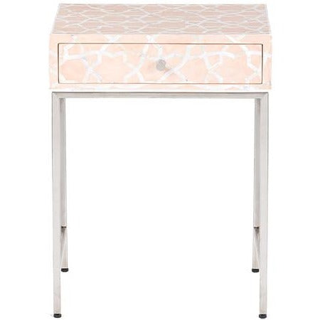 Fez Mother of Pearl Inlay Side Cabinet - Pale Pink