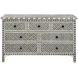 Bone Inlay 7-Drawer Chest - Wallpaper