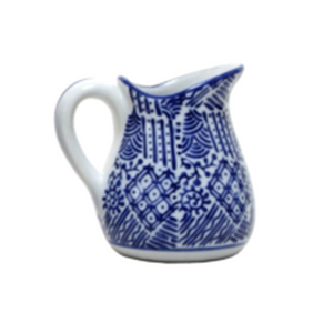 Jug Blue and White #4