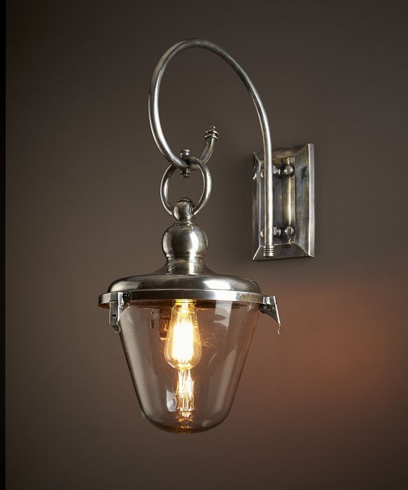 Savoy Entry Lamp with Glass Shade