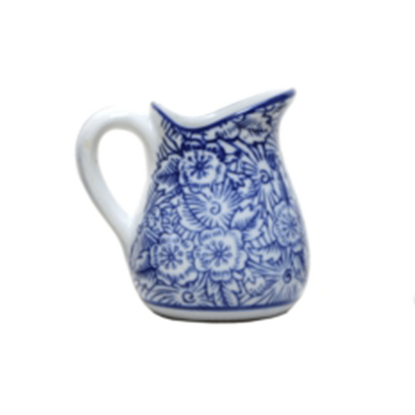 Jug Blue and White #3