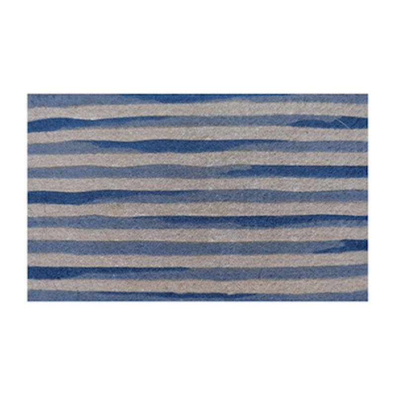 Blue and White Stripes Doormat
