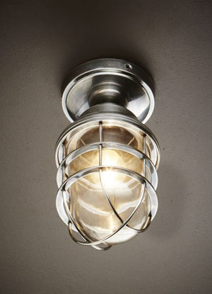 Dalton Overhead Lamp in Antique Silver