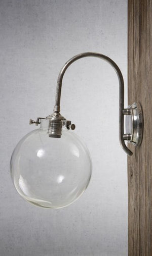 Catalina Wall Lamp Antique Silver